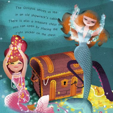 Mermaids have found a treasure chest full of beautiful jewellery
