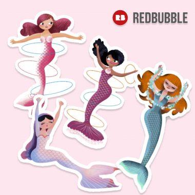 Mermaids at Redbubble