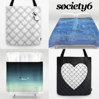 Society6 mermaid products