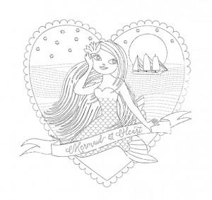 Valentine Mermaid Brush version Sample