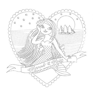 Valentine Mermaid Brush version Sample