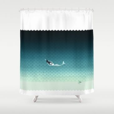 suomu-blue-scale-pattern-with-a-horizontal-mermaid-shower-curtain-or-duvet-cover-shower-curtains