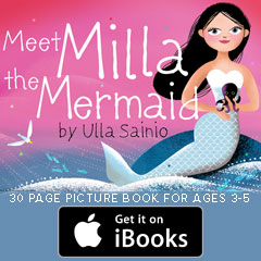 Meet Milla the Mermaid iBook available at the iTunes Book Store
