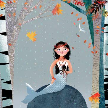 Milla Mermaid Fall leaves