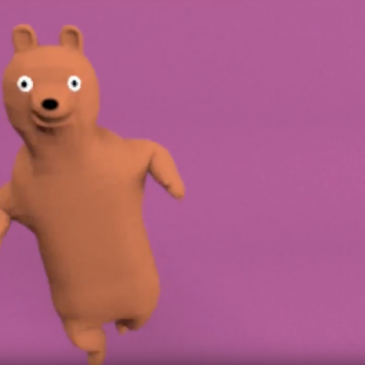 Animated bear dancing