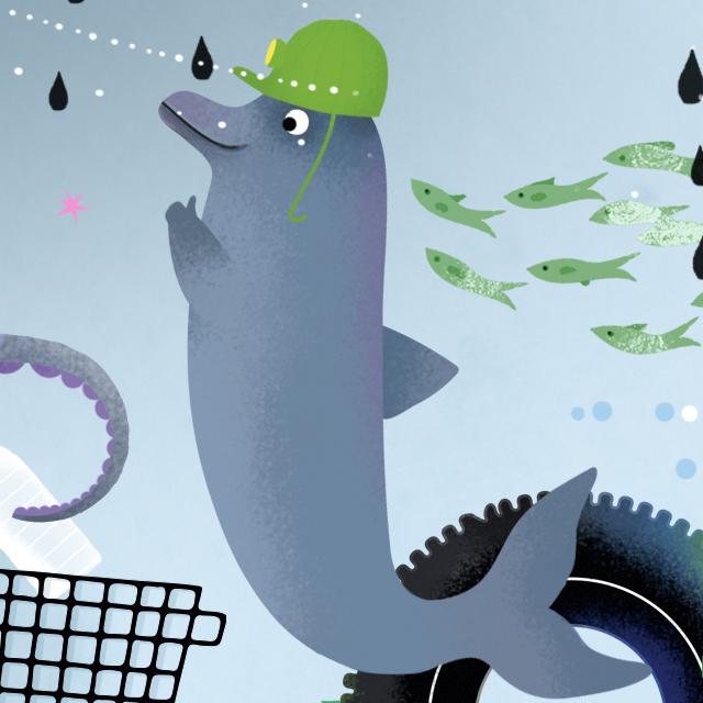 Mermaids: Let's clean up the ocean!